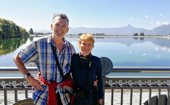 Clients from Canada cycled in Yunnan of China