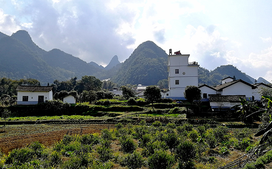 Scenery between Guilin and Liuzhou, Cycle to the countryside of Guangxi
