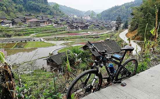 Backroad cycle route in Guizhou, Cycling map if Guizhou China.