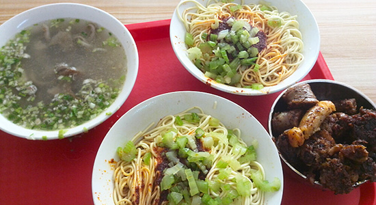 Noddles is the main food in Qinghai