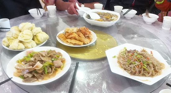 Chinese dishes, food to eat when biking in China.