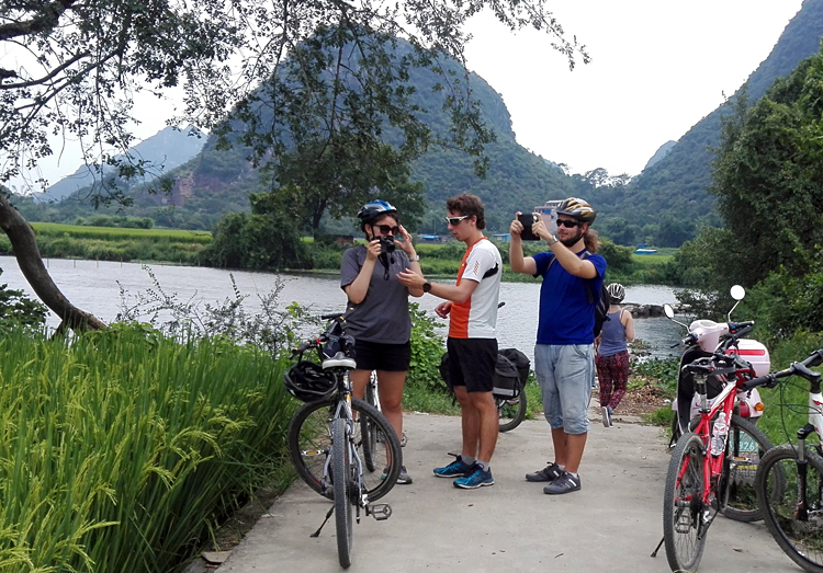 Trekking day after cycling at Longji Scenic Spot