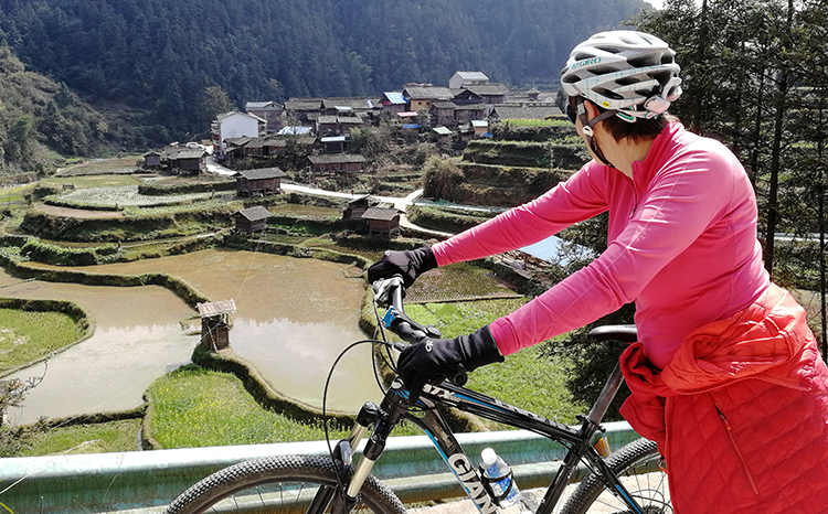 Cycle Countryside of the South East of Guizhou Province in China