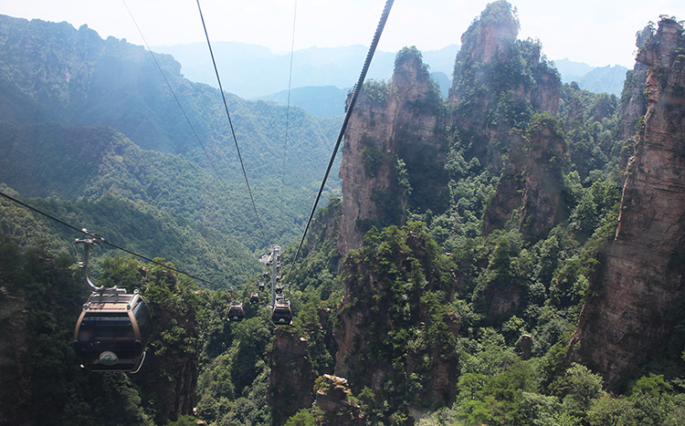 Cable Car at Zhangjiajie National Forest Park