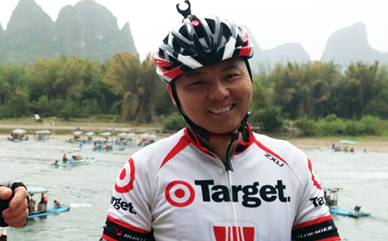 China Cycle Tour Leader, Robert Liu with Guilin Cycling Tours