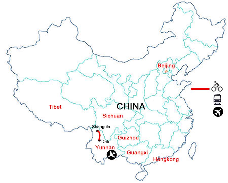 China Bike Tours,Yunnan Bike Tours,Bike to Tibet.