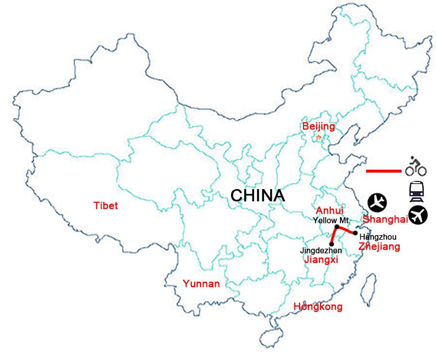 China Bike Tours,China Cycling Holidays,Bike Routes Near Shanghai.