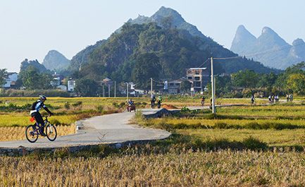 Bike Tour to Countryside of Guilin and Yangshuo, China Cycle Tours.